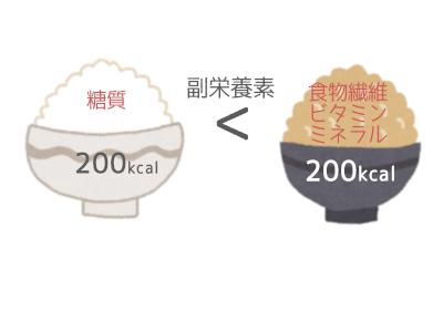 白米・玄米副栄養素比較