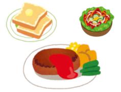現代の食事の一例