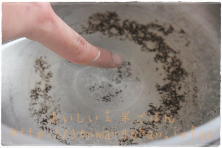 圧力鍋を使って発芽させる お湯の温度