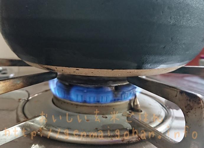 土鍋炊飯の火加減