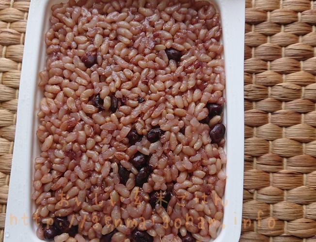 有機玄米小豆ごはん1